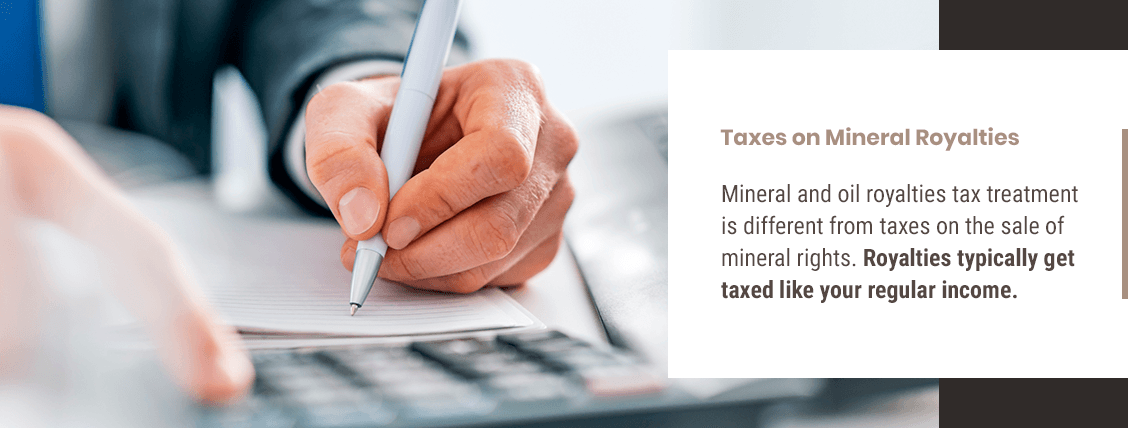 person doing taxes on mineral royalties