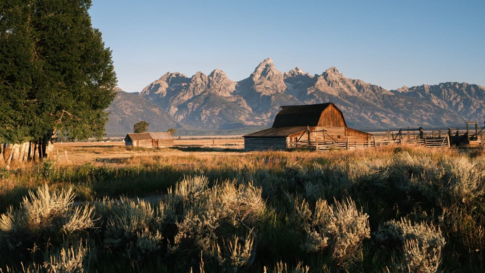 brown house on wyoming landscape